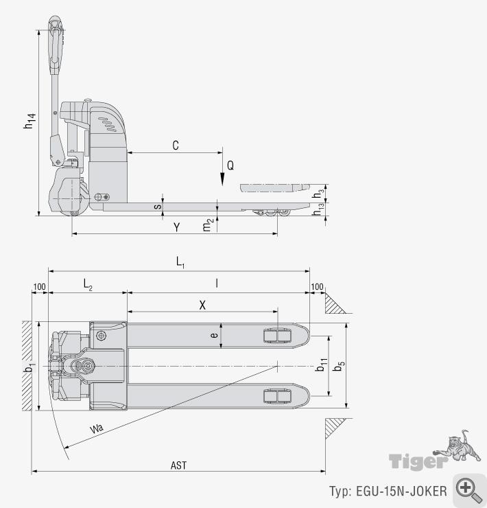 elektrohubwagen elektrischer standard hubwagen hubwagen. Black Bedroom Furniture Sets. Home Design Ideas