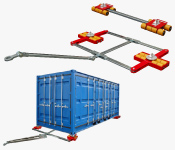 Container-Transportfahrwerke -  ISO-Container-Transport